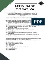 Modulo 01 CLASSE DE ESTILO - CRIATIVIDADE DECORATIVA