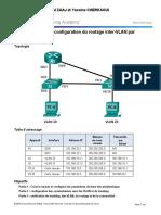6.3.2.4 Lab - Configuring Per-Interface Inter-VLAN Routing -