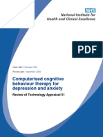 Computerised cognitive behaviour therapy for depression and anxiety_guidance