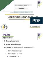 HEREDITE MENDELIENNEL3S5 Ph