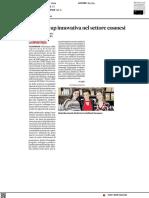 Prospika, una start up innovativa nel settore della cosmesi - Il Corriere Adriatico del 18 giugno 2021