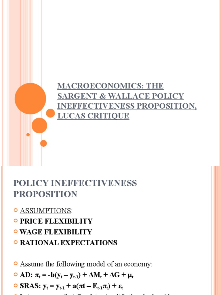 what is the relevance of rational expectation hypothesis to a developing economy