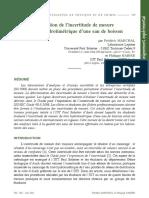 Evaluation de Lincertitude de Mesure Du Titre Hydrotimtrique TH d'Une Eau de Boisson
