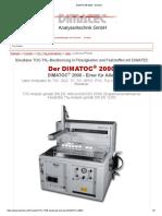 DIMATOC® 2000 - Dimatec