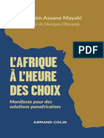L'Afrique a l'Heure Des Choix - Mayaki Ibrahim Assane