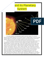 Sun and its planetary system