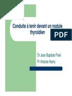 Conduite à Tenir Devant Un Nodule Thyroidien Corrigé