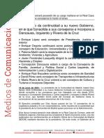 Composición Gobierno Isabel Díaz Ayuso