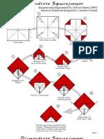 ORIGAMI diamondrose_squarejumper