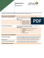 APHC 2011 Programme 150311