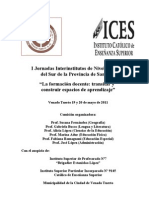 I Jornadasa Interinstitutos de Nivel Superior[1]