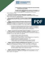 Requisitos para incorporación  de la procuraduria