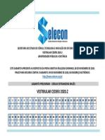 CEDERJ - Gabarito Vestibular 2020.2