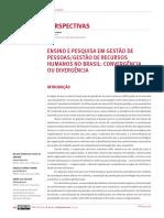Ensino e pesquisa em gestão de pessoas gestão de recursos humanos no Brasil