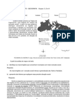 Vestibular UFF 2010 - Específicas Geografia