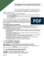 CALCUL DES CHARGES DE CLIMATISATION