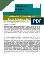 SHIGUSEIGANMON - Die vier Gelübde des Bodhisattva (Rech)