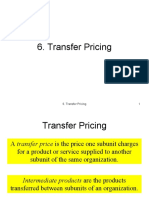 case 6 1 transfer pricing problem