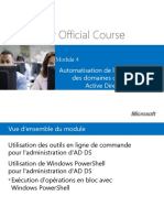 Chapitre 04 - Automatisation de l'Administration Des Domaines de Services ActiveDirectory