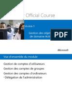 Chapitre 03 - Gestion Des Objets de Services deDomaine Active Directory