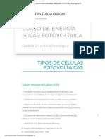 Tipo de Células Fotovoltaicas _ ARSOLAR _ Cursos Online de Energía Solar