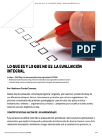 Lo que es y lo que no es_ La Evaluación Integral – OtrasVocesenEducacion.org