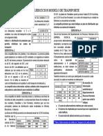 GUIA DE EJERCICIOS MODELO DE TRANSPORTE