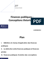 Conceptions théoriques des Finances Publiques