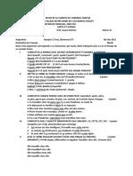 2da Evaluation de Français, 3ero Sec, Pedro Luis Tapias Morales