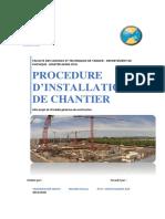 Rapport-Installation Du Chantier