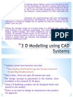 3 D Modeling using CAD Systems