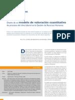 diseño de un modelo de valoracion cuantitativo en clima labral
