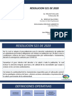 PRESENTACION RESOLUCION521