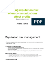 reputation risk management lecture summary