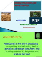 Agribusiness and Food Security