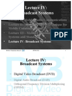 BTB43503 Lecture IVb-DVB Broadcast Systems