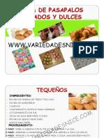 Guía - Pasapalos Dulces y Salados - Variedades Nice