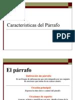 3  características del Párrafo