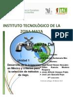 Desarrollo de la irrigación en México