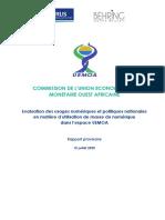 20200818 - Etude Uemoa Services Numeriques - Rapport Provisoire Version Finale
