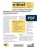 The Role of Parents in Dropout Prevention Strategies That Promote Graduation and School Achievement