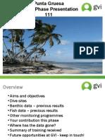 Punta gruesa - End of phase presentation Jan-March 111