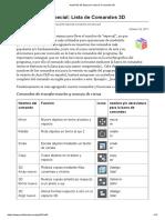 AutoCAD 3D Especial_ Lista de Comandos 3D