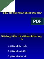 dieu tri noi khoa  va ung thu buong trung