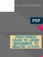 FORGIVENEES LEADS TO ANGER MANAGEMENT