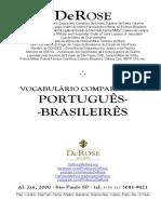 Pocket - Vocabulario comparado de portugues brasileires