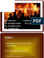 Fire safety in hospital