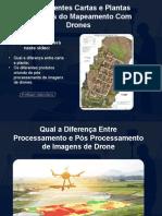 Ortofotocarta, cartas e plantas oriundas do mapeamento com drone