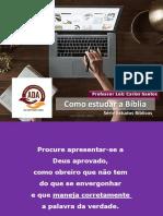 A1 -Método SINTÉTICO -Como estudar a Bíblia -SEMINÁRIO -2020 reformulado