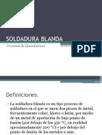 SOLDADURA BLANDA - PROCESOS